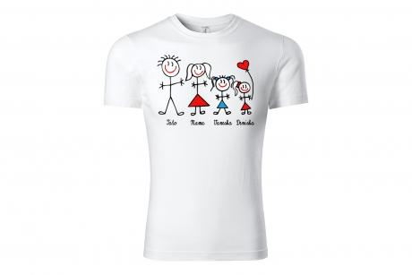 Tričko Vianočné postavičky biele unisex