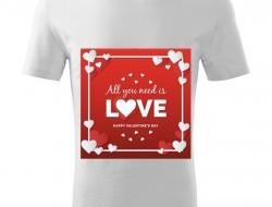 Tričko ALL YOU NEED IS LOVE unisex