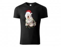 Tričko Vianočný pes unisex