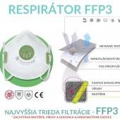 Ochranný respirátor FFP3