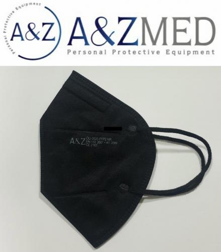 Ochranný respirátor FFP2 bez výdychového ventilu - čierna