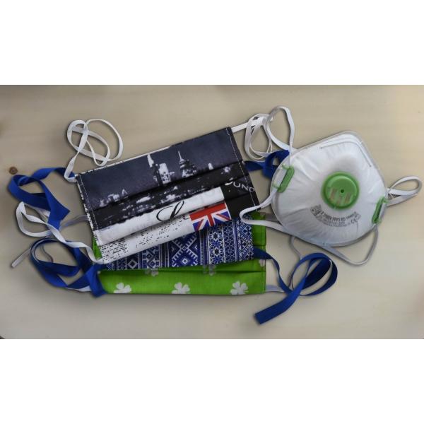 SET: 3 ks balenie ochranných rúšok + Ochranný respirátor FFP3.